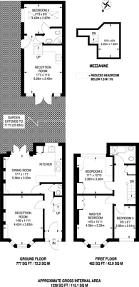 Large floorplan for Priestfield Road, Forest Hill, SE23