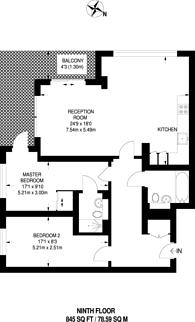 Large floorplan for Wharf Street, Deptford, SE8
