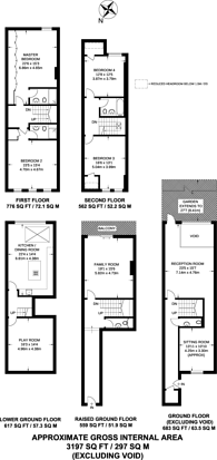 Large floorplan for Shakespeare Terrace, Crouch End, N8