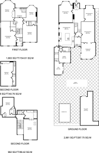 Large floorplan for Leopold Road, Ealing Common, W5