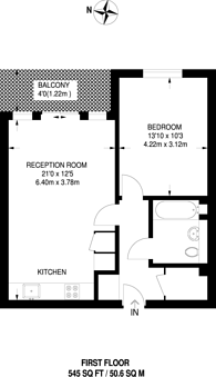 Large floorplan for Kew Bridge West, Kew Bridge, TW8