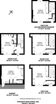 Large floorplan for Emerald Street, Bloomsbury, WC1N