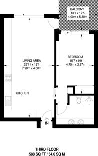Large floorplan for Rathbone Square, Fitzrovia, W1T