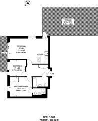 Large floorplan for Main Avenue, Enfield, EN1
