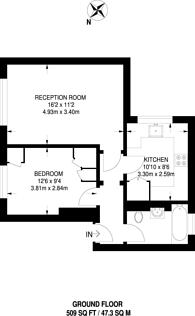 Large floorplan for Clarence Close, New Barnet, EN4