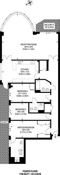 Large floorplan for Lensbury Avenue, Imperial Wharf, SW6