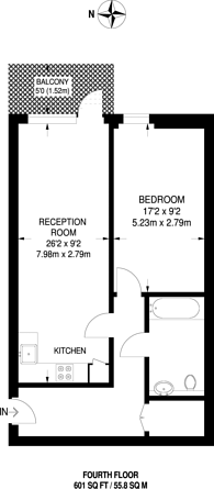 Large floorplan for Cranston Court, Shepherd's Bush, W12