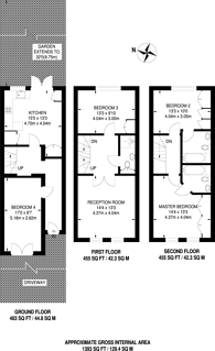 Large floorplan for Garfield Road, Wimbledon, SW19