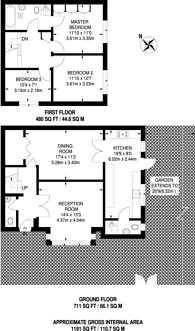 Large floorplan for Whitmore Close, Friern Barnet, N11