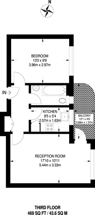 Large floorplan for Dumbarton Court, Brixton Hill, SW2