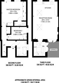 Large floorplan for Crawford Street, Marylebone, W1U