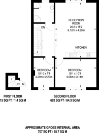 Large floorplan for Alma Square, St John's Wood, NW8