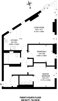 Large floorplan for Saffron Tower, Central Croydon, CR0
