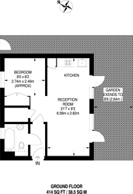 Large floorplan for Sydney Road, Sutton, SM1