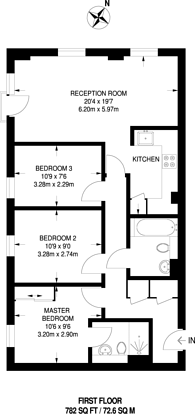 Large floorplan for Station Approach, South Ruislip, HA4