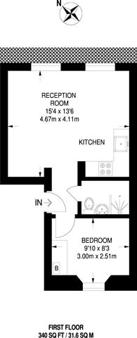 Large floorplan for Murray Street, Camden, NW1