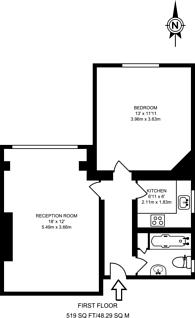 Large floorplan for Becmead Avenue, Streatham, SW16