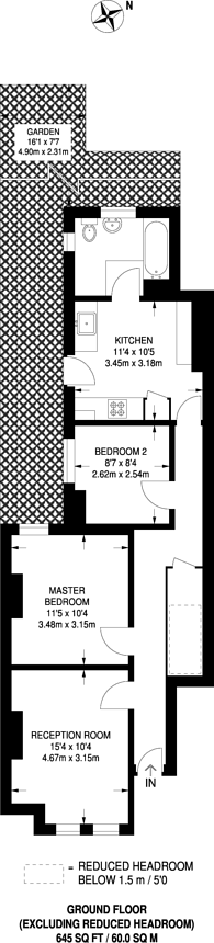 Large floorplan for Byton Road, Tooting, SW17