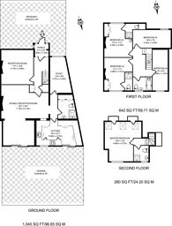 Large floorplan for South Hill Grove, Sudbury, HA1