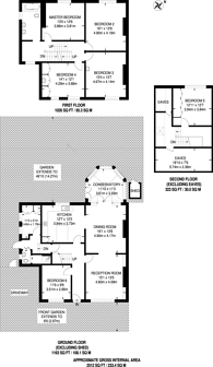 Large floorplan for High View Road, Crystal Palace, SE19