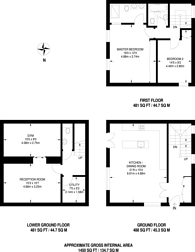 Large floorplan for Clarendon Mews, Hyde Park Estate, W2