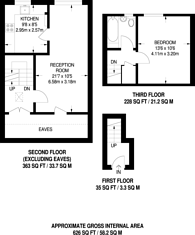 Large floorplan for Vulcan Way, Islington, N7