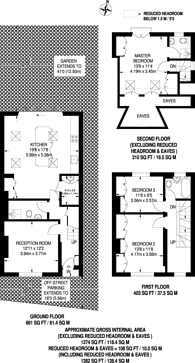 Large floorplan for Shacklegate Lane, Teddington, TW11