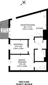 Large floorplan for Agnes George Walk, Silvertown, E16