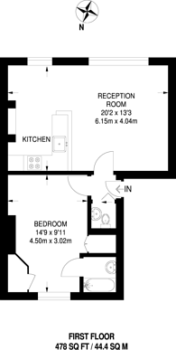 Large floorplan for Upper Richmond Road West, East Sheen, SW14