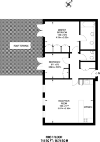 Large floorplan for Chepstow Villas, Notting Hill Gate, W11
