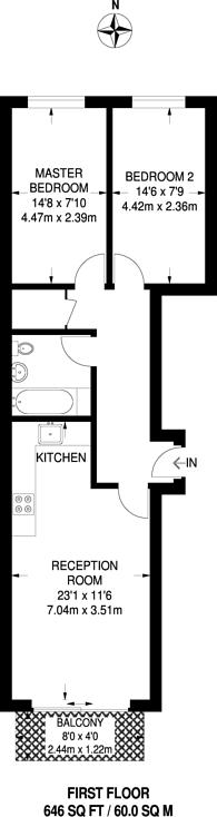 Large floorplan for Romford Road, Forest Gate, E7