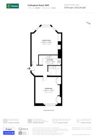 Large floorplan for Collingham Road, South Kensington, SW5