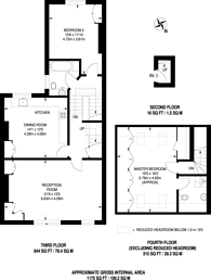 Large floorplan for Wandsworth Common West Side, Wandsworth Common, SW18