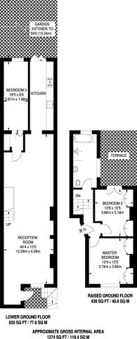 Large floorplan for Packington Street, Angel, N1