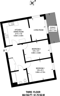 Large floorplan for Leven Wharf, Canning Town, E14