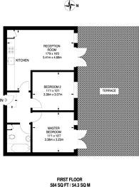 Large floorplan for Coombe Lane, Raynes Park, SW20