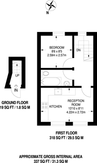 Large floorplan for Downsell Road, Stratford, E15