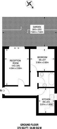 Large floorplan for Longley Road, Tooting, SW17