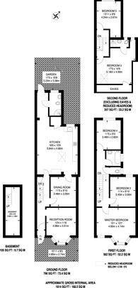 Large floorplan for Goodall Road, Leytonstone, E11