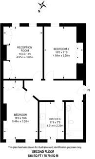 Large floorplan for Kings Road, Chelsea, SW3