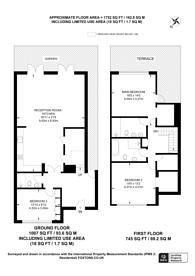 Large floorplan for Copse Hill, West Wimbledon, SW20