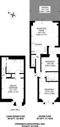 Large floorplan for Fulham Palace Road, Fulham, SW6