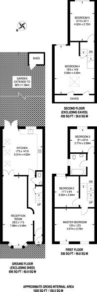 Large floorplan for Murchison Road, Leyton, E10