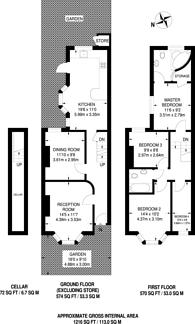 Large floorplan for Liddington Road, Stratford, E15