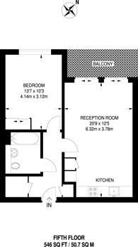 Large floorplan for Pump House Crescent, Brentford, TW8