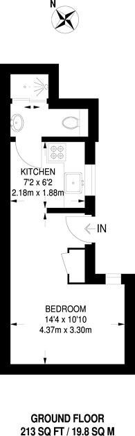 Large floorplan for Milestone Apartments, Finsbury Park, N7
