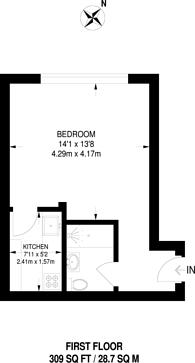 Large floorplan for Milestone Apartments, Finsbury Park, N7