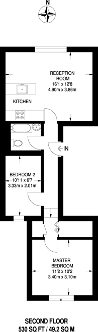 Large floorplan for Castellain Road, Maida Vale, W9