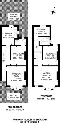 Large floorplan for Bristol Road, Forest Gate, E7