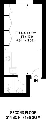 Large floorplan for Arundel Gardens, Notting Hill, W11